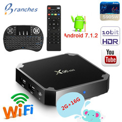 X96 mini tv box android 7,1 2 GB 16 GB Amlogic S905W tvbox Quad Core WiFi reproductor de medios 1 GB caja de tv inteligente de 8 GB X96mini