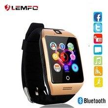 Получить скидку LEMFO Q18 Смарт-часы с мощным Батарея Bluetooth Анти-потерянный Поддержка TF карты Камера циферблат вызова WhatsApp сообщение напоминание