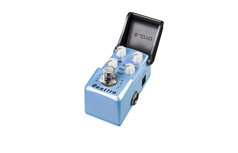 JOYO JF-318 Guitar Effect Pedal/Digital Delay Quattro Ironman Series Mini Pedal/Guitar Accessories joyo jf 329 iron loop digital phrase looper guitar effect pedal true bypass guitar pedal guitar accessories