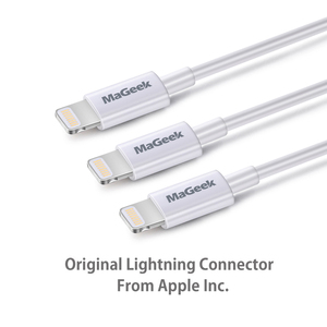Image 3 - MaGeek [3 Pack] 1m MFi Certified Lightning to USB Mobile Phone Cables for iPhone 12 11 Xs Max X 8 7 6 5 iPad Air iOS 14 13