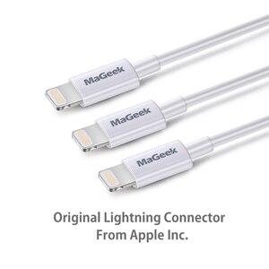 Image 3 - MaGeek [3 Pack] 1m MFi Certified Relâmpago para USB Cabos de Telefone Móvel para o iphone 12 11 Xs Max X 8 7 6 5 Ar iPad iOS 14 13