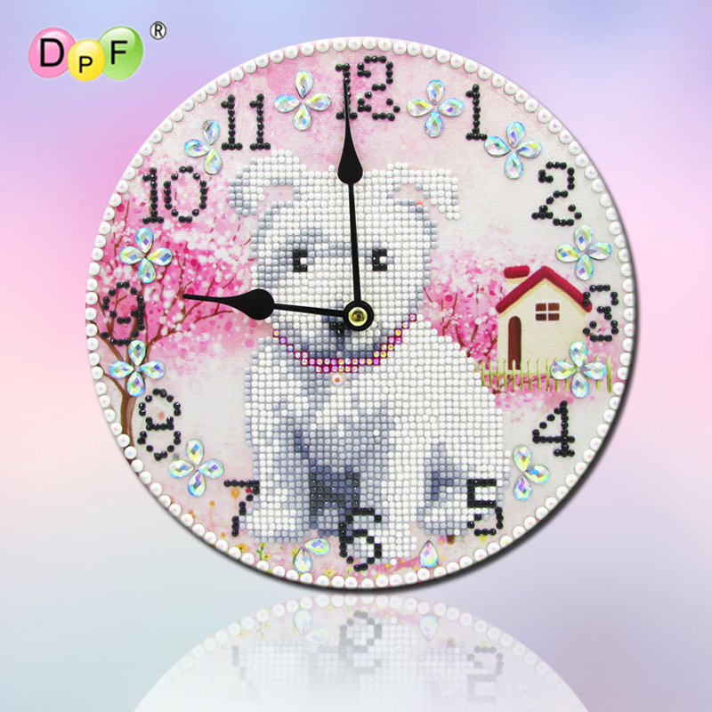 DIY Clock Special Shaped Diamond Painting Embroidery Kids Clock Room Decor Gift