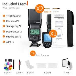 Image 2 - Godox 2x TT600 2.4G bezprzewodowy GN60 Master/Slave lampa błyskowa Speedlite z Xpro wyzwalania dla Canon Nikon Sony Pentax produktu firmy Olympus Fuji