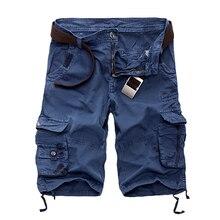 Новинка, мужские шорты Карго, повседневные, свободные, короткие штаны, камуфляж, Военный стиль, Летний стиль, до колен, размера плюс, 10 цветов, мужские шорты