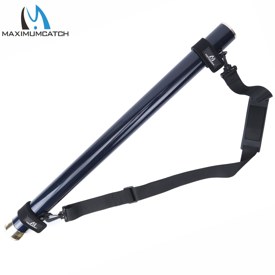 Maximumcatch Carbon Fly Rod Tube with Fishing Rod Strap Carry Shoulder Belt Sling Adjustable maximumcatch fishing sling back pack outdoorsport fly fishing sling bag with fly patch