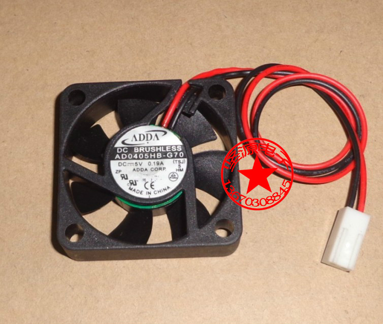 Free Shipping DC5V 0.19A Server Cooling Fan For ADDA AD0405HB-G70 Server Square Fan 2-wire 40x40x10mm