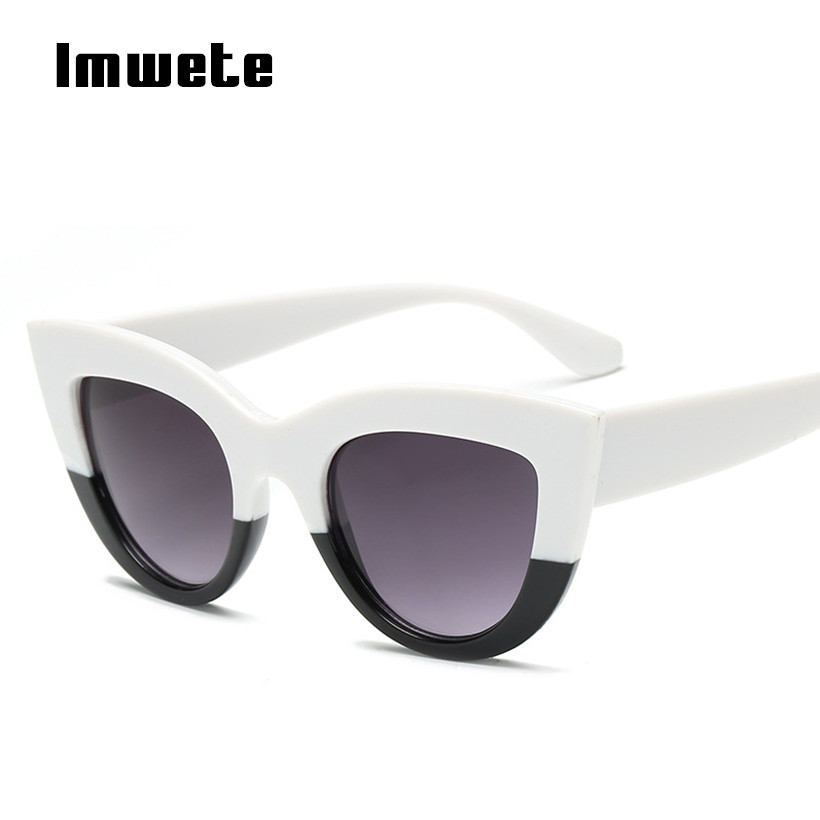 Vintage Oversized Sunglasses Cat Eye Women Classic Retro Round Sun Glasses Cateye Sun Glasses UV400 Big Frame Eyewear