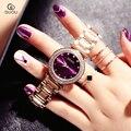 GUOU часы для женщин Изысканный топ роскошный алмаз кварцевые женские часы Мода нержавеющая сталь женские наручные часы saat relogio feminino