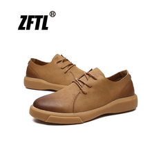 ZFTL New Men martins shoes big size male genuine leather lace-up Man casual Retro fashion trend men leisure 76