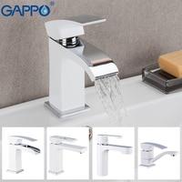 Gappo mixer torneira da pia do banheiro torneira da bacia de latão cromado torneira de água torneira da bacia misturadora deck montado torneiras de água