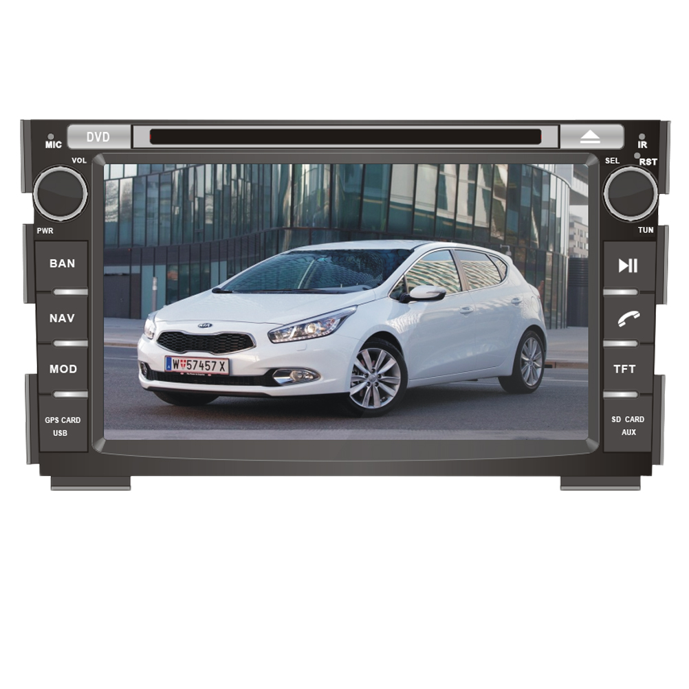 Ectwodvd Wince 6.0 Car Multimedia Player For KIA Ceed 2006 2007 2008 2009 2010 2011 2012 Car DVD Auto GPS Navigation Radio цена
