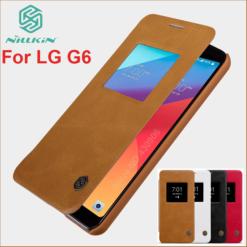 For LG G6 H870DS H870 Case NILLKIN Hight Quality Leather Smart Case For LG G6 Luxury Flip Leather Cover For LG G6 Sleep FunctionFor LG G6 H870DS H870 Case NILLKIN Hight Quality Leather Smart Case For LG G6 Luxury Flip Leather Cover For LG G6 Sleep Function