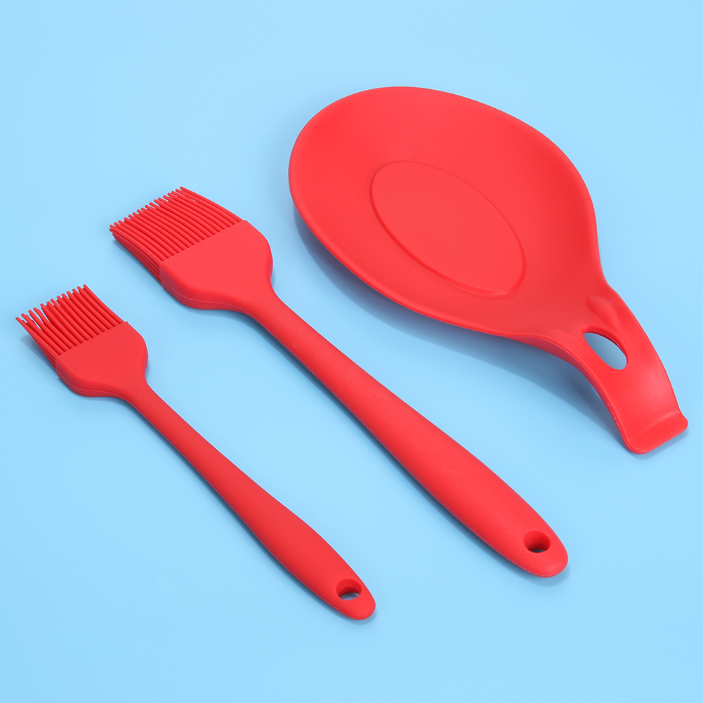 3PCS Camping BBQ Set cooking tools Kit food grade silicone brush + ...