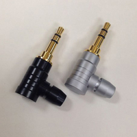 90 grado Jack 3,5mm conector de auriculares ángulo recto de 3 Pole Stereo clavija de conexión de Audio por Cable adaptador de Cable