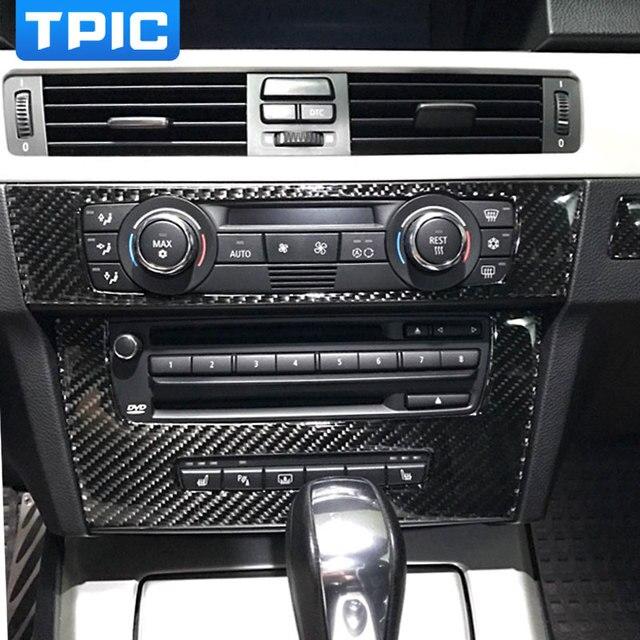 Verwonderlijk Pour BMW e90 bande de Fiber de carbone climatisation CD panneau LZ-12