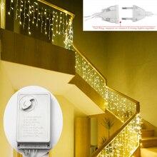 220 В Рождественская гирлянда светодиодный светильник 5 м 96 Светодиодный s Внутренний светодиодный вечерние садовый сценический наружный декоративный светильник