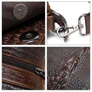 Image 5 - Westalメッセンジャーバッグ男性のショルダーバッグワニのパターンのハンドバッグ男性のレザークロスボディバッグ本革フラップジッパーバッグ