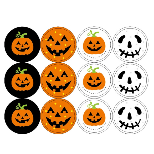 halloween labels pumpkin labels candy wrapping stickers halloween