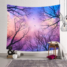 цены Bedroom tapestry decoration mandala nordic forest tapestry wall blanket boho beach towel bohemian decorative blanket tablecloth