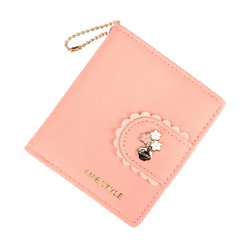 Fashion Japan and Korea Style Women Wallet Floral Fresh Hasp Short Lady Clutch Gilding PU Leather Multifunctional Change Bags лампочка gauss led globe crystal clear 4w e27 2700k 105202104