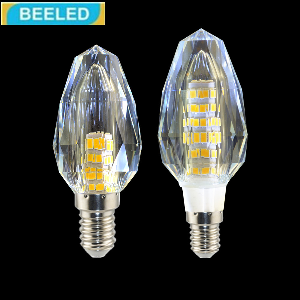 rystal LED Bulb Lamp E14 5W 7W Light Bulb 220V Crystal lamp chandelier Home Living Room Energy Saving lighting 1 Pack led light
