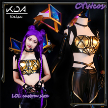 2019 Hot! LOL KDA Kaisa Cosplay Costume Female Group KaiSa K/DA Uniforms Girls Sexy Costumes Customsized Top+Pants