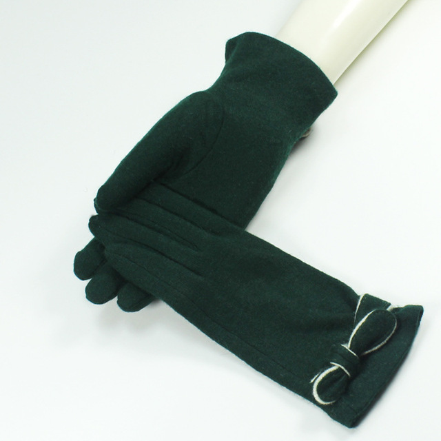Green Color Wool Cashmere...