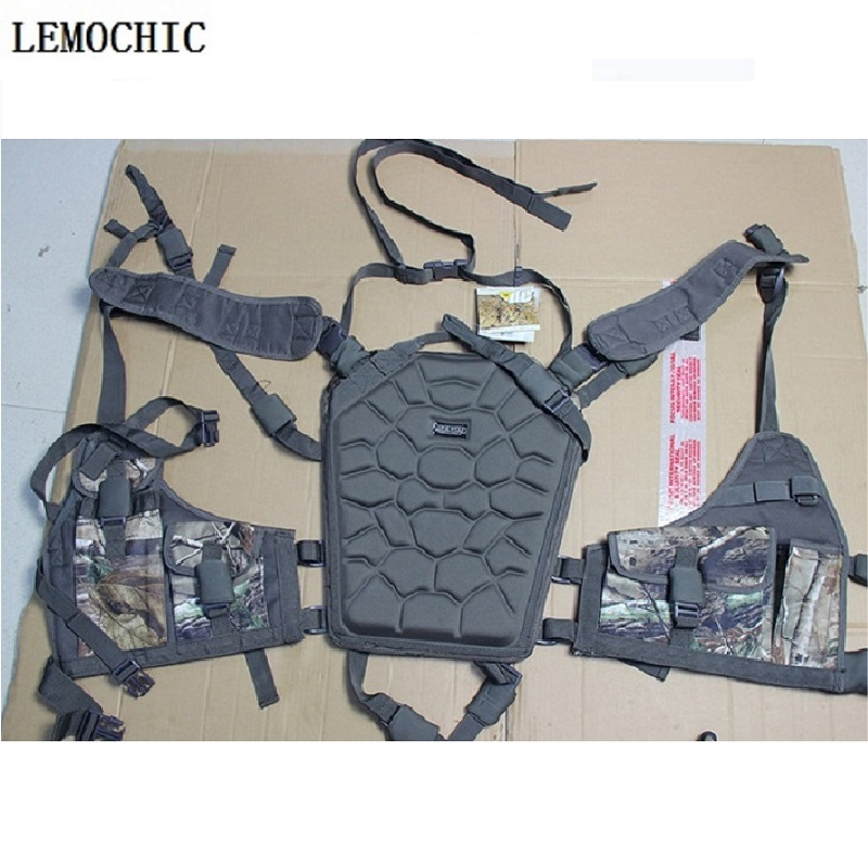 LEMOCHIC  Outdoor Sport Men Women Military Army Tactical Hunting Bow Backpacks With Many Pockets Multifunction Vest