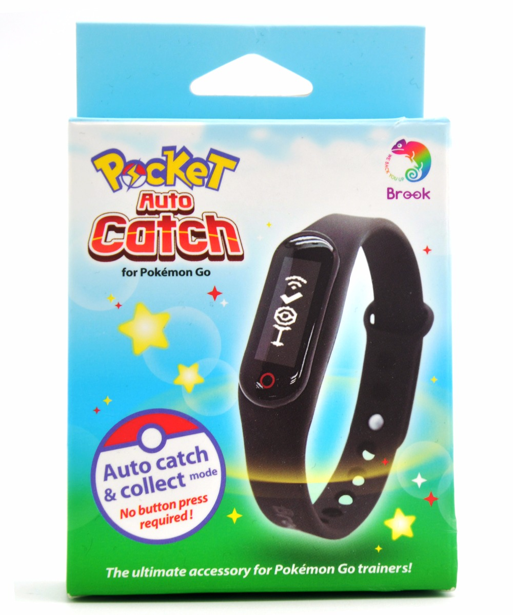 Brook for Pocket Auto Catch Compatible for Pokemon Go Plus Bluetooth Bracelet WristBand for IOS Android