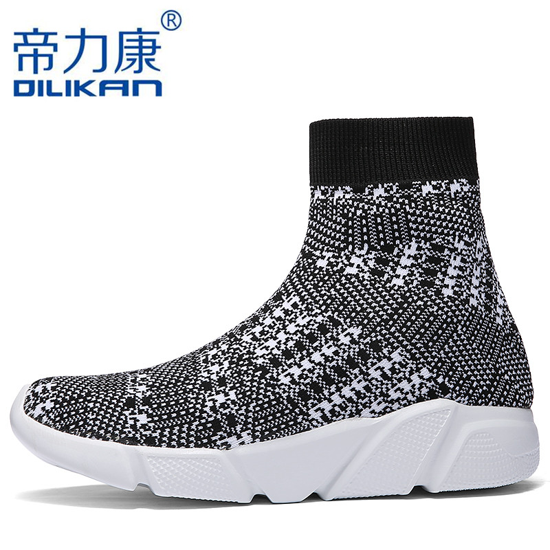 Sneakers Contemplative Quality Men Socks Sneakers Summer Breathable Elastic Knit Men Walking Shoes Unisex Sport Shoes Lightweight Trainers Krasovki