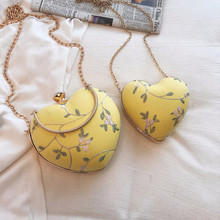 Heart Shaped Women Evening Bags Embroidered Lace Shoulder Purse Day Clutches Handbag Ladies Tote Party Wedding Bridesmaid