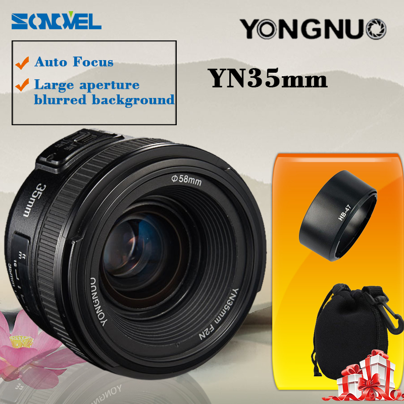 Yongnuo YN35mm F2 lens Wide-angle Large Aperture Fixed Auto Focus Lens For Nikon yongnuo yn35mm f2 1 2 af mf wide angle aperture fixed prime auto focus lens for nikon d7100 d3200 d3300 d3100 d5100 d90 dslr
