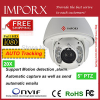 2MP Full HD 1920*1080P High Speed Dome Camera Auto Motion Tracking PTZ IP Camera Outdoor 20x Zooms CCTV Camera
