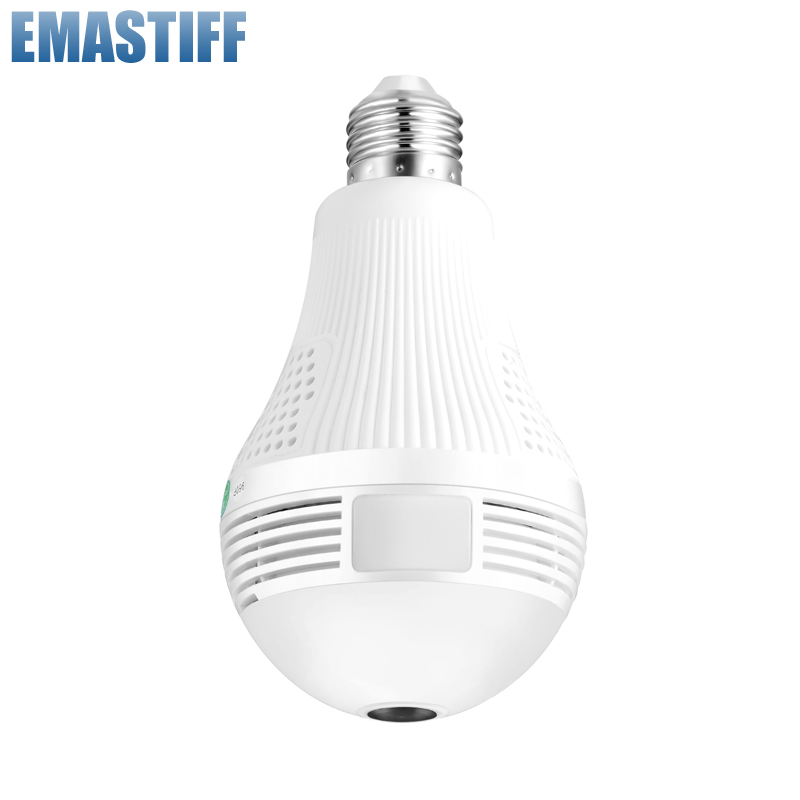 Wireless IP Camera Wifi 960P Panoramic FishEye Bulb Lamp Home Security CCTV Camera 360 Degree Home Security Burglar