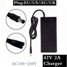 36 V 2A зарядное устройство для электрического велосипеда 42 V 2 A зарядное устройство Вход 100-240 VAC литий-ионная литий-полимерная Зарядка для 10 серий