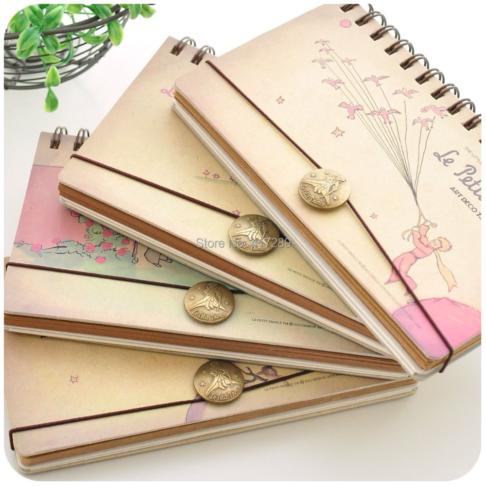8910676cdc21 US $9.66 |Aliexpress.com : Buy Little Prince metal buckle spiral ring  binder Craft Paper notebook agenda planner weekly plan Book creative school  ...