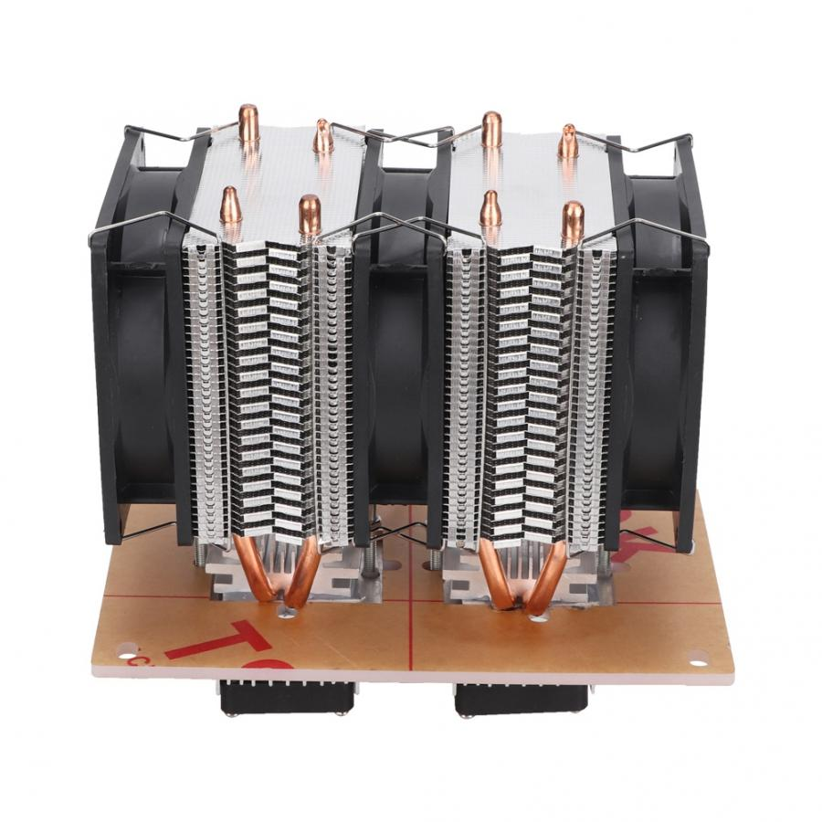 Ventilateur refroidissement ventilateur LED refroidissement pour Pc 12 V bricolage 12A 144 W électronique semi-conducteur réfrigérateur Double Kit ventilateur