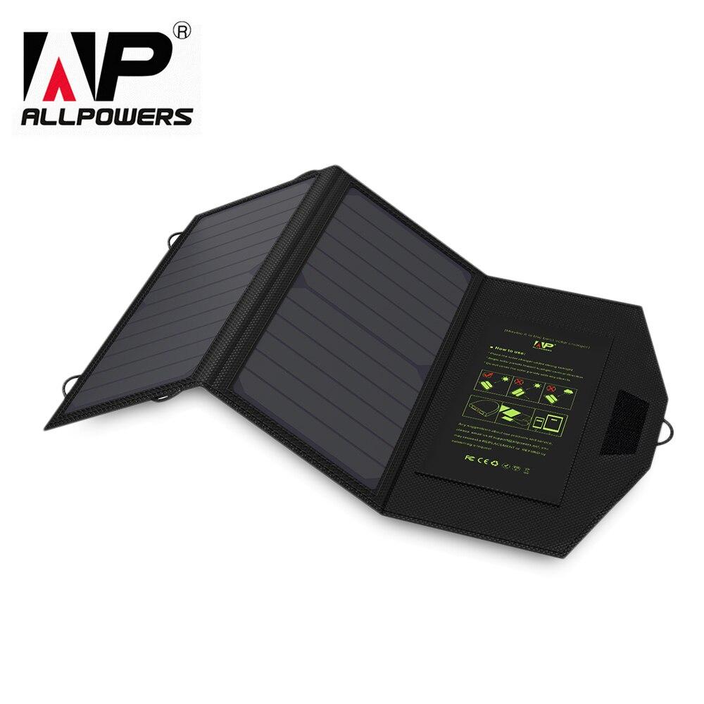 ALLPOWERS 5 V 1.6A 14 W Haute Efficacité Portable Sun Power Solaire Panneau Chargeur Double USB Pliant Charge Sac