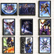 Wall Art Painting Pictures Printed Anime  Poster Gundam Home Decor For Living Room Modern Artwork