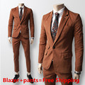 2017 New Men Suits Plus Size Men Slim Business Blazer Classic One Button Wedding Suits For Men Terno Slim Fit Tweed Suit Men