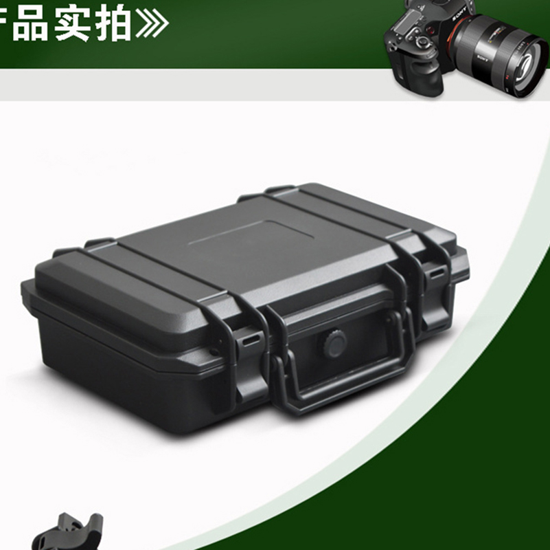 PP Plastic Waterproof Shockproof Carrying Case Tool Box With Foam