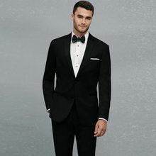 Модные черные мужские классические костюмы для свадьбы смокинги