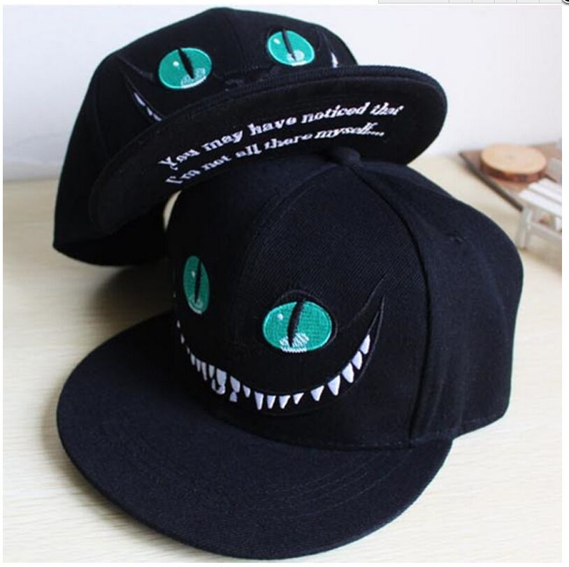 4448b80fa7bf2 Mask as Gift Alice s Adventures in Wonderland Cheshire cat men women  snapback anime embroidered hip hop baseball cap hip hop cap