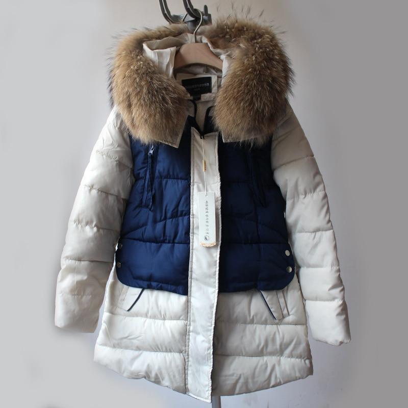 Winter Jacket Women 2018 New Winter Womens Parka Natural Real Raccoon Fur Outwear Military Hooded Coat Parkas Manteau Femme