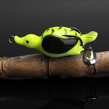 TREHOOK Duck Artificial Silicone Bait 6.5cm 13g Soft Plastic Lures Pike Wobblers for Fish Soft Bait with Spoon Fishing Lure Forg