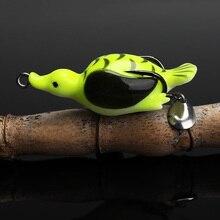 Trehook Eend Kunstmatige Siliconen Aas 6.5Cm 13G Zacht Plastic Kunstaas Pike Wobblers Voor Vis Zacht Aas Met Lepel vissen Lokken Forg