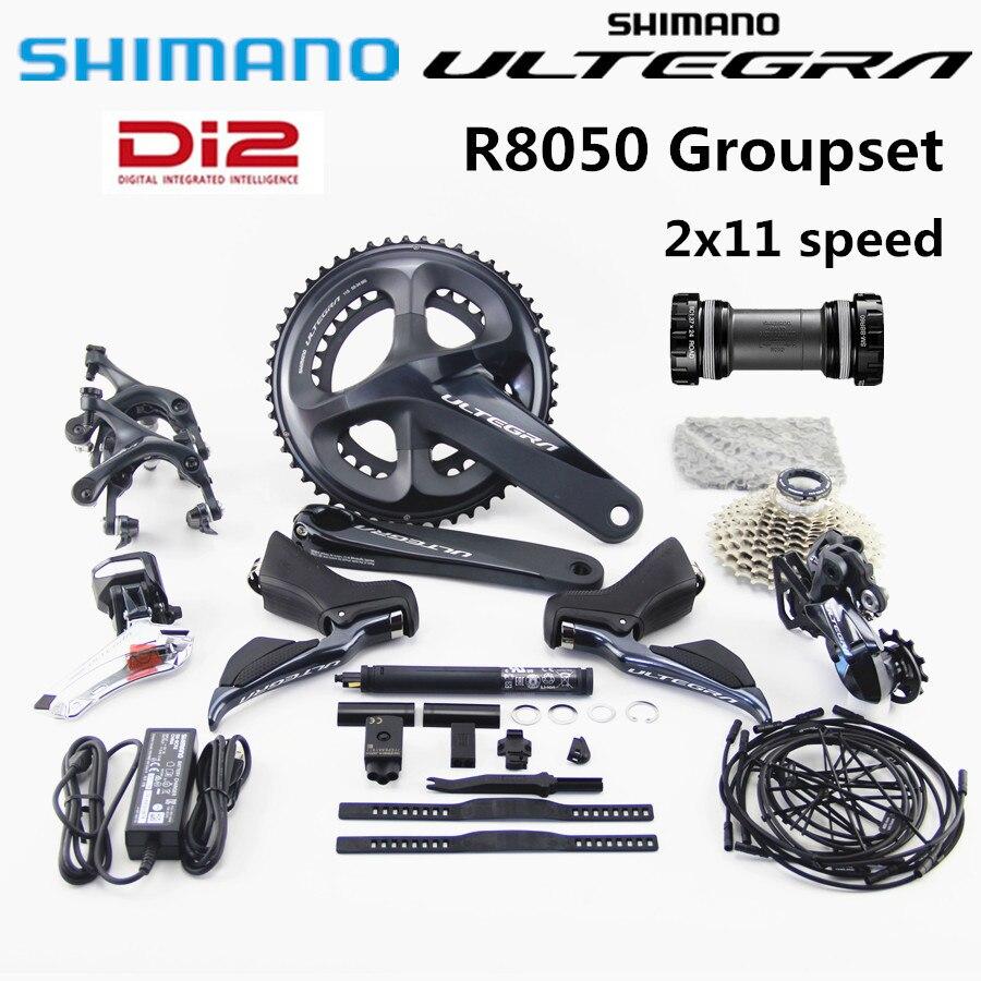 Groupe SHIMANO R8050 Di2 dérailleurs ULTEGRA R8050 vélo de route ST + FD + RD levier de manette de vitesse de dérailleur avant et arrière
