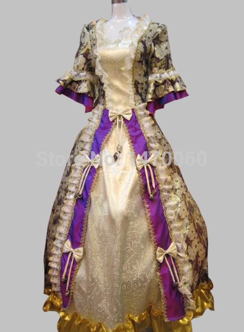 17 18th Century Sky Blue Marie Antoinette Ball Gown Baroque Rococo Dresses