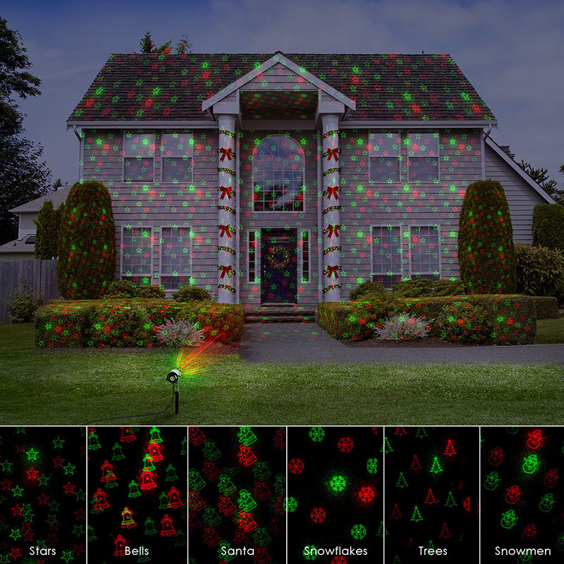 12 Xmas Patterns Christmas Laser Projector Light RF Remote shower Red Green Outdoor Waterproof IP65 Garden Tree stars Landscape new generation of led outdoor firefly light projector waterproof display landscape square garden tree christmas laser lighting page 9 page 1