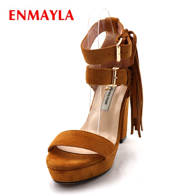 ENMAYLA Summer Shoes Platform Shoes High Heels Sandals Women Party Wedges Womens Shoes Sandals Buckle Strap Ladies Shoes 100pcs lot 100mm x 3mm self locking network nylon plastic cable wire zip tie cord strap
